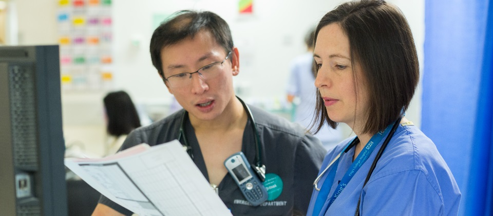 Two clinicians at King's college hospital nhs foundation trust