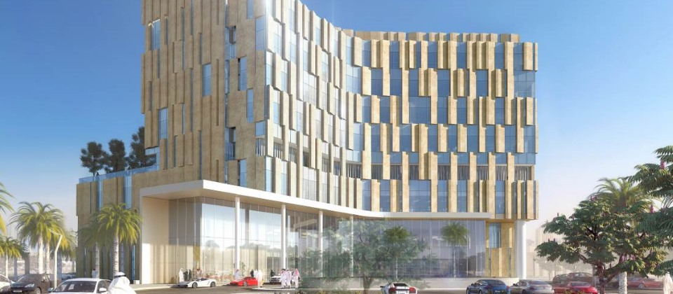 Artists impression of King's College Hospital Dubai