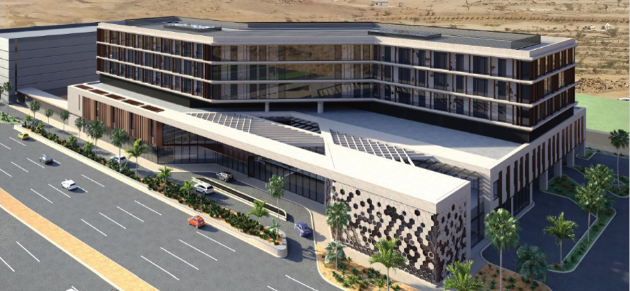 Artist Impression of hospital in Jeddah
